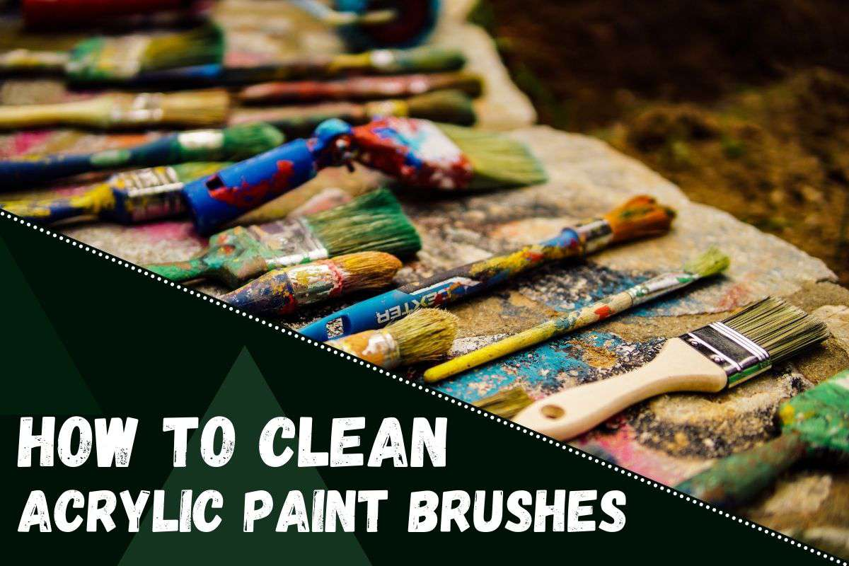 How to Clean Acrylic Paint Brushes.